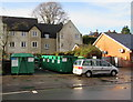ST8499 : Recycling bins, Old Market, Nailsworth by Jaggery