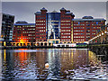 SJ8197 : Erie Basin and The Anchorage Building, Salford Quays by David Dixon