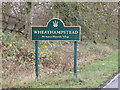 TL1813 : Wheathampstead Village Name sign on Marford Road by Adrian Cable