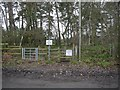 TF2164 : Woodhall Spa, Sandy Lane, footpath entrance by Brian Westlake