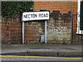 TL1813 : Necton Road sign by Adrian Cable