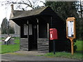TF1406 : Bus shelter, post box and parish noticeboard, Etton by Paul Bryan