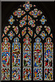 SK9136 : Stained glass window, St Wulfram's church, Grantham by Julian P Guffogg