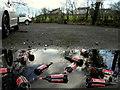 H4772 : Discarded beer bottles, Cranny Picnic Car Park by Kenneth  Allen