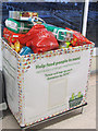 SP9211 : The Xmas collection for the local food bank at Tesco, Tring by Chris Reynolds