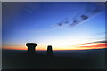 NT5432 : Sunrise on Eildon Mid Hill by Walter Baxter