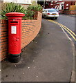 ST3288 : King George V pillarbox on a Beechwood corner, Newport by Jaggery