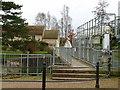 TL4862 : Footbridge at Baits Bite Lock by Alan Murray-Rust