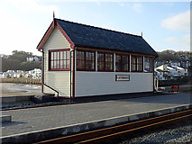 SH5738 : The new Porthmadog Harbour signal box by John Lucas