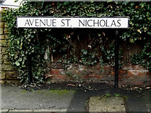 TL1314 : Avenue St.Nicholas sign by Adrian Cable
