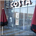 SE2635 : Costa Coffee, Kirkstall Bridge, closed by floods by Rich Tea