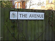 TM1645 : The Avenue sign by Adrian Cable