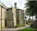 SJ9495 : Flowery Field Church west end by Gerald England