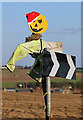 NT8661 : A festive scarecrow at Greenhead by Walter Baxter
