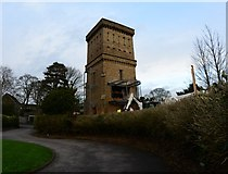 SK3516 : Ashby Water Tower under renovation by Oliver Mills
