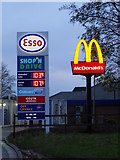 TF1505 : Sign at Glinton Service Station by Paul Bryan