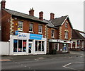 SO8005 : High Street charity shop and bank branch, Stonehouse by Jaggery