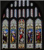 SK8976 : East window, St Botolph's church, Saxilby by Julian P Guffogg