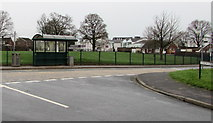 ST3091 : Almond Drive bus stop and shelter, Malpas, Newport by Jaggery