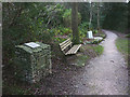 SD4578 : Commemorative cairn, Ashmeadow Wood, Arnside by Karl and Ali
