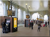 NZ2463 : New glazed Portico of Newcastle Central Station by Andrew Curtis