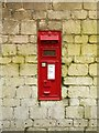 SK9804 : Ketton Railway Station postbox, ref PE9 20 by Alan Murray-Rust