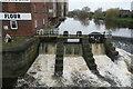 SE4225 : Sluice gates at Queen's Mill, Castleford by Chris Allen