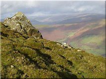 SO2718 : Rock outcrop on Sugar Loaf by Philip Halling