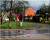ST3090 : Postbox on a Malpas corner, Newport by Jaggery