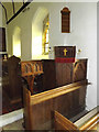 TM3687 : Pulpit of St.John's Church by Geographer