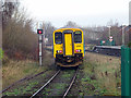 SJ3250 : A train for Bidston departs from Wrexham General station by John Lucas