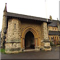 ST8599 : Entrance to the Parish Church of St George, Nailsworth by Jaggery