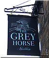 NZ2226 : Sign for the Grey Horse, public house, Shildon by JThomas
