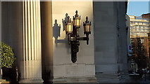 TQ3081 : Lamp Shadows, United Grand Lodge of England, Great Queen Street, London WC1 by Christine Matthews