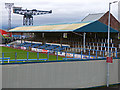 NS2975 : Cappielow Park and Titan crane by Thomas Nugent