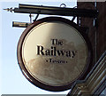 NZ2533 : Sign for the Railway Tavern, Spennymoor by JThomas