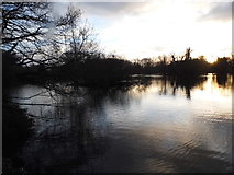 TQ0481 : Sunset over Little Britain Lake by David Howard
