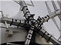 SE5851 : Holgate Windmill - close up of 'spider' by Chris Allen