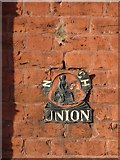 SO8454 : Norwich Union sign by Philip Halling