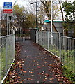 SS9681 : Path to platform 2, Pencoed railway station by Jaggery