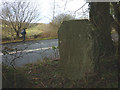SD4292 : Parish boundary stone by Karl and Ali