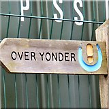 SJ9495 : Signpost to Over Yonder by Gerald England
