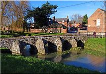 SK6514 : Packhorse bridge crossing Rearsby Brook by Mat Fascione