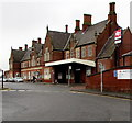 SO5140 : Victorian railway station buildings, Hereford by Jaggery