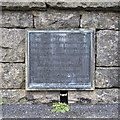 J3021 : Plaque, Silent Valley Reservoir by Rossographer