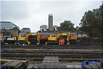 TQ3379 : Engineering works outside London Bridge Station by N Chadwick