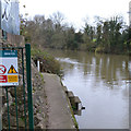 SP2965 : Level gauges by the River Avon, southeast Warwick by Robin Stott