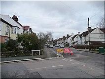 TQ3893 : Road ahead closed, Heathcote Grove, Chingford Mount by Christine Johnstone