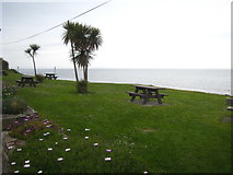G7157 : Grassed seating area overlooking Donegal Bay by Rod Allday