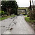 ST7195 : Motorway bridge over a minor road, Lower Wick by Jaggery
